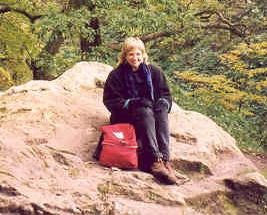 Karen at Roslin Glen, Scotland