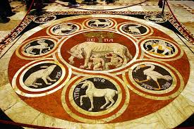 Siena cathedral, Italy, floor mosaic